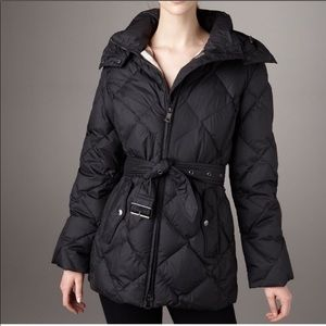 Burberry Brit small quilted down puff jacket black
